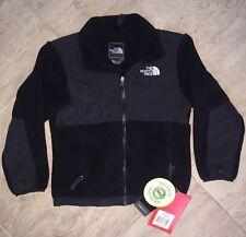 New Girl's THE NORTH FACE Black Zipper Denali Fleece Jacket NWT SMALL 7/8