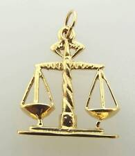 14KT YELLOW GOLD LIBRA SCALES OF JUSTICE PENDANT OR CHARM (7CM 530-11118)