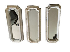 Faux Bamboo Decorative Mirrors Set of 3 Hollywood Regency