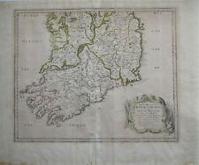 'Royaume D'Irlande'  1665 rare map of Southern Ireland by Nicholas Sanson
