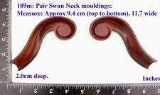 "189M ""2 Curved Mouldings"" clock case / furniture DIY"