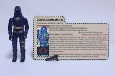 NICE VINTAGE HASBRO GI JOE COBRA COMMANDER LEADER COMPLETE W/ FILE CARD