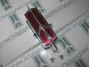 """1966 Oldsmobile  """"442"""" Grill Bar Rocket Emblem with Hardware"""