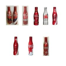 Coca Cola Collectible Aluminum Bottles, Full and unopened, Various commemoration