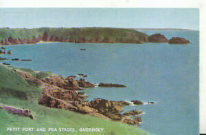 Channel Islands Postcard - Petit Port and Pea Stacks - Guernsey - Ref TZ5912