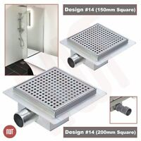 """Square"" Stainless Steel Shower, Wetroom Drainage Gully (150mm or 200mm)"