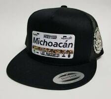 LAS PLACAS DE MICHOACAN  HAT MESH TRUCKER BLACK  2LOGOS SNAP BACK ADJUSTAB  NEW