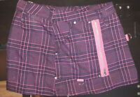 Vintage Brand Dog Pile ~Punk Rock Ska Hot Pink Plaid Miniskirt Loops & Zippers