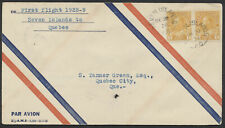 1928 AAMC #2863b Seven Islands to Quebec Flight, CPO Air Mail Envelope