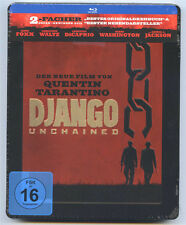 DJANGO UNCHAINED BLU-RAY STEELBOOK NEU & OVP SEALED ERSTAUFLAGE PRÄGUNG SOLD OUT
