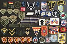 OLD VTG ADVERTISING SEW ON PATCHES MILITARY ARMY HUNTING FISHING GUNS LOT OF 50