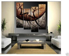 4PCS HUGE MODERN ABSTRACT WALL DECOR ART CANVAS OIL PAINTING NO FRAMED