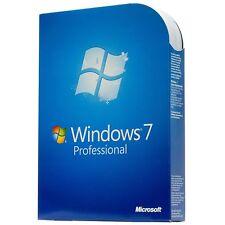 Windows 7 professionnel (Win 7 Pro) 32/64 bits oem Clé de produit d'activation