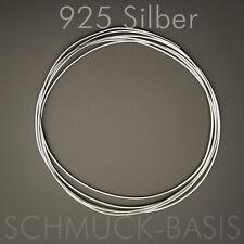 1 m Silberdraht (echt); 925 Silber; Ösendraht 0,8 mm