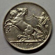 10 LIRE BIGA VITTORIO EMANUELE III RE DI ITALIA 1930 BB/SPL