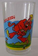 Verre à moutarde glass SCOUBIDOU Hanna Barbera. Effrayé par une souris.VM125