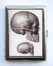 Anatomy Skull Cigarette Case Wallet Business Card Holder gothic victorian med