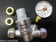 RIDUTTORE di pressione dell'acqua con Gauge 15MM & 22MM RACCORDO di regolazione PRV ADV