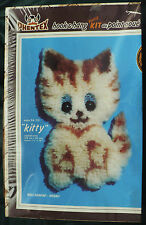 "Vintage 1981 Phentex ""Kitty"" Hook & Hang Deluxe Wall Hanging Kit #54/02 Sealed"