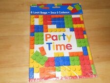 Building Brick Block Design Loot Goody Treat Party Bags (8 per Pack) Not Lego