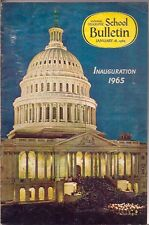 national geographic-SCHOOL BULLETIN-jan 18,1965-INAUGURATION.