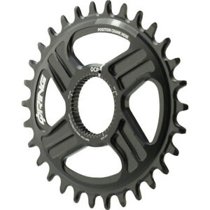 Rotor Oval Q-Ring Chainring For Hawk and Raptor Cranksets Direct Mount 30T Black