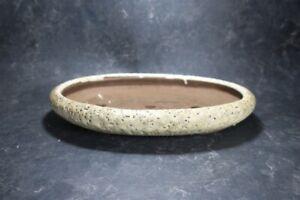 "Genuine Japanese Bonsai pot  ""Yoshimura Syuho"" with patina, from Tokoname."