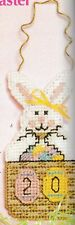 """Plastic Canvas Pattern ONLY - Easter Countdown Bunny - 3-1/2"""" x 7-1/8"""" - 7 count"""