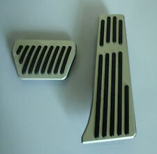 AT Aluminum Pedal Pad Brake Gas Foot Rest Für BMW Car Silver WITH LOGO