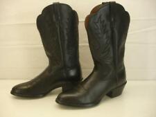 Women's 7.5 B M Ariat Heritage Western Deertan Black Cowgirl Boots Cowboy Riding