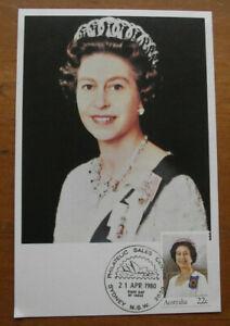 Retro Vintage Postcard: Queen Elizabeth II - Queen's Birthday, FDC, 1980