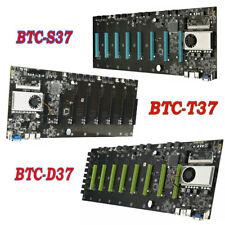 BTC-T37 BTC-D37 BTC-S37 Mining Motherboard 8 GPU Memory Slot Card CPU DDR3 HDMI