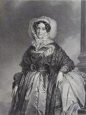 EUGENIE – ADELAIDE LOUISE PRINCESSE D'ORLEANS . (1777-1847) . Portrait , 1870