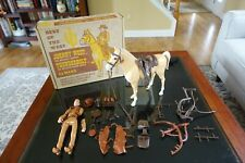1967 MARX COMBO JOHNNY WEST & THUNDERBOLT w/ LITHO MAILER BOX & ACCESSORIES