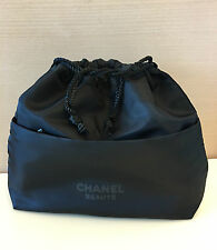 CHANEL Beauty Drawstring Lined Makeup Cosmetic Bag Storage New with original box