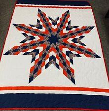 "Lakota Military Native American Star Quilt 86"" X 63"" Huge Powwow Navajo"