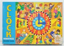 Vintage Karnan Clock Wooden Puzzle- 65 Pieces, Original Sealed Box Sweden NIB