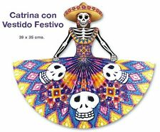 LOT OF 10 !! DAY OF THE DEAD CATRINA DECORATIONS -  DIA DE LOS MUERTOS  !