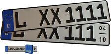 1 Kfz Kennzeichen 520x110 Autoschild Autokennzeichen Ganzjährig oder Saison