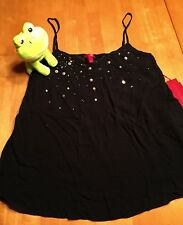 Jennifer Lopez Medium NWT Black Embellished Lined Cami Top