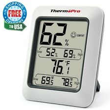 Hygrometer Indoor Humidity Monitor Weather Station with Temperature Gauge Meter