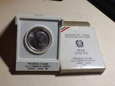 307m) MONETE REPUBBLICA 500 Lire argento presidenza comunità europea 1985