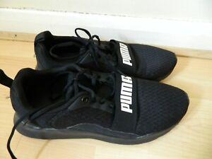 PUMA Trainers Mens Black size UK 10 US 11 EU 44.5 29cm excellent condition