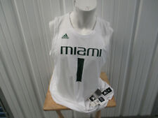 adidas UM MIAMI HURRICANES #1 BASKETBALL 2XL WHITE JERSEY NEW W/ TAGS 2019/20