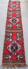 Turkish Rug 19''x108'' Handmade Anatolian Carpet Runner Corridor Carpet Oriental