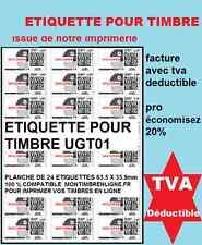 �‰tiquette vignette affranchissement pour timbre en ligne planche de 24 ( L7159 )