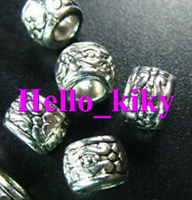 100 Pcs Tibetan silver 4mm hole ornate spacers A1018