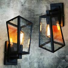 Contemporary Nautical Black Metal Lantern Indoor Porch Wall Sconce Lights