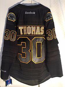 Reebok Premier NHL Jersey BOSTON Bruins Tim Thomas Black Accelerator sz S
