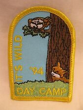 Girl Scout Patch 1994 Day Camp - It's Wild Uniform Patch GS
